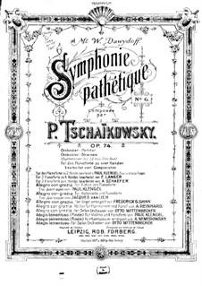 Complete Movements: Para Piano by Pyotr Tchaikovsky
