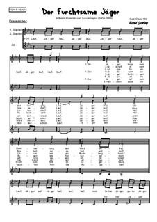 Volkslieder: Der furchtsame Jäger, Op.153: Volkslieder: Der furchtsame Jäger by Anton Wilhelm von Zuccalmaglio