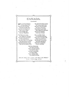Canada Our Homeland. National Song for Voices and Piano: Canada Our Homeland. National Song for Voices and Piano by Lonnie Rees
