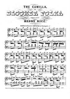 The Camilla, for Piano: The Camilla, for Piano by Henry Rice