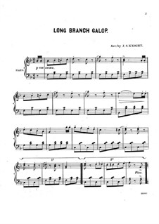 Long Branch Galop: Para Piano by Unknown (works before 1850)