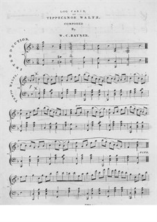 Log Cabin or Tippecanoe Waltz for Piano: Log Cabin or Tippecanoe Waltz for Piano by Wm. C. Rayner