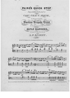 Paine's Quick Step: Paine's Quick Step by Unknown (works before 1850)