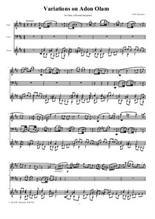 Variations on Adon Olam: For flute, cello and guitar by David W Solomons