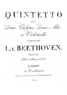 String Quintet in E Flat Major: String Quintet in E Flat Major by Ludwig van Beethoven