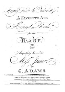 Merrily Danc'd the Quaker's Wife: Arrangement for harp by G. Adams