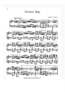 Climax Rag: para um único musico (Editado por H. Bulow) by James Scott