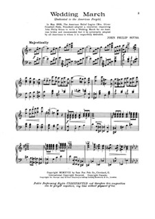Wedding March: Wedding March by John Philip Sousa