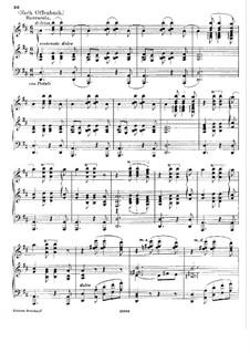 Barcarole: Version for piano (D Major) by Jacques Offenbach
