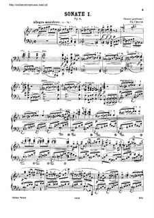 Sonata for Piano No.1 in C Minor, Op.4: For a single performer by Frédéric Chopin