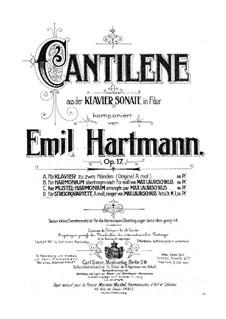 Sonata for Piano in F Major, Op.17: Cantilena. Arrangement for string quartet by Emil Hartmann