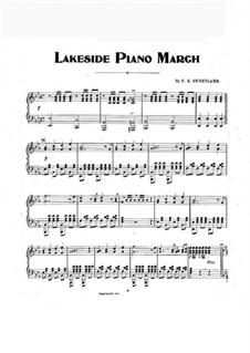 Lakeside Piano March: Lakeside Piano March by F. R. Sweetland