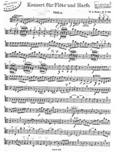 Concerto for Flute, Harp and Orchestra in C Major, K.299: parte viola by Wolfgang Amadeus Mozart