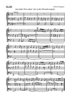 Aus tiefer Not schrei ich zu dir (Choralvorspiel): Aus tiefer Not schrei ich zu dir (Choralvorspiel) by Roman Jungegger