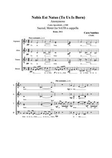 To us is born - Nobis est natus, CS181: To us is born - Nobis est natus by Santino Cara