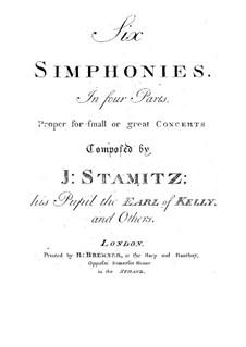 Six Quartets for Four Instruments: Six Quartets for Four Instruments by Johann Wenzel Stamitz