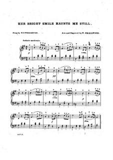 Her Bright Smile Haunts Me Still: para piano (G maior) by William Thomas Wrighton