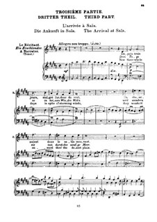 L'enfance du Christ (The Childhood of Christ), H.130 Op.25: The Arrival at Sais, for voices and piano by Hector Berlioz