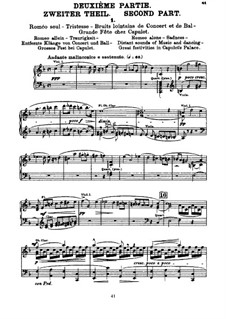 Roméo et Juliette (Romeo and Juliet), H.79 Op.17: Movement II, for voices and piano by Hector Berlioz