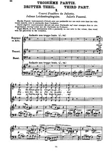 Roméo et Juliette (Romeo and Juliet), H.79 Op.17: Movement III, for voices and piano by Hector Berlioz