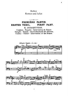 Roméo et Juliette (Romeo and Juliet), H.79 Op.17: Movement I, for voices and piano by Hector Berlioz