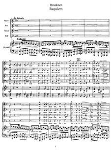 Requiem in D Minor, WAB 39: Partitura piano-vocal by Anton Bruckner