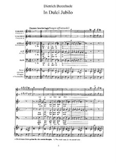In dulci jubilo, BuxWV 197: For voices, violins and basso continuo by Dietrich Buxtehude