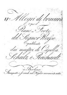 Six Allegro for Piano, Op.1: para um único musico (Editado por H. Bulow) by Christopher Ernst Friedrich Weyse