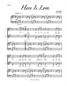 Here Is Love: Para coro misto e piano by Robert Lowry