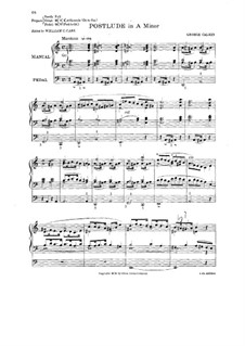 Postlude in A Minor: Postlude in A Minor by George Calkin