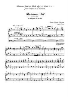 Nouveau livre de Noëls. Troisième Noël, Op.2: For harpsichord (or organ) by Louis Claude  Daquin