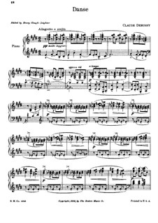 Dance, L.69: Para Piano by Claude Debussy