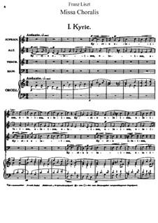 Missa choralis, S.10: Partitura completa by Franz Liszt