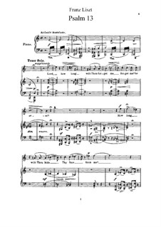 Psalm No.13 'Lord, How Long?', S.13: Psalm No.13 'Lord, How Long?' by Franz Liszt