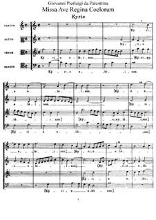 Missa Ave Regina Coelorum: Missa Ave Regina Coelorum by Giovanni da Palestrina