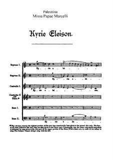 Missa Papae Marcelli: set completo by Giovanni da Palestrina