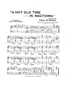 A Hot Old Time in Ragtown: A Hot Old Time in Ragtown by Charles B. Brown