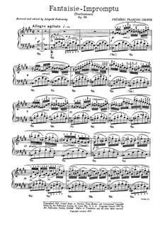 Fantasia-Impromptu in C Sharp Minor, Op.66: para piano (com dedilhado) by Frédéric Chopin