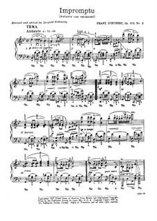 Four Impromptus for Piano, D.935 Op.142: Impromptu No.3 by Franz Schubert