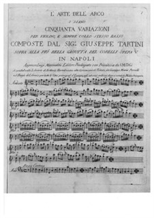 L'Arte dell'arco (The Art of Bowing), B.F11: For violin and basso continuo by Giuseppe Tartini