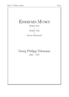 Solo No.1, TWV 41:F 4: For violin and basso continuo by Georg Philipp Telemann