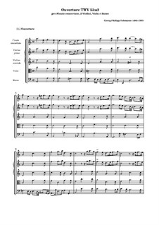Suite for Flute, Strings and Basso Continuo in A Minor, TWV 55:a2: Partitura completa by Georg Philipp Telemann