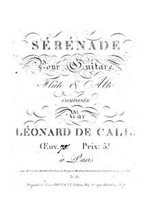 Serenade for Guitar, Flute and Viola, Op.75: Serenata para guitarra, flauta e viola by Leonhard von Call