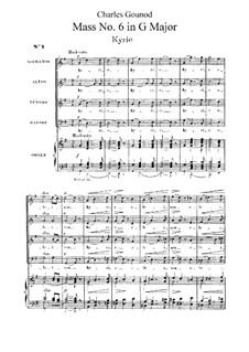 Mass No.2 in G Major: partitura completa by Charles Gounod