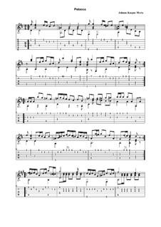 Polka for Guitar: For a single performer (with tabulature) by Johann Kaspar Mertz