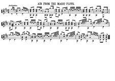 Papageno's Aria: Para Guitarra by Wolfgang Amadeus Mozart