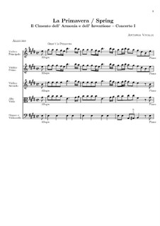 Violin Concerto No.1 in E Major 'La primavera', RV 269: Partitura completa by Antonio Vivaldi