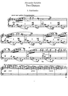 Two Dances, Op.73: Para Piano by Alexander Scriabin