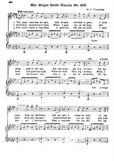 Her Bright Smile Haunts Me Still: para voz e piano (A flat maior) by William Thomas Wrighton
