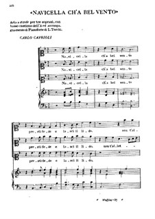 Navicella Ch'a Bel Vento: Navicella Ch'a Bel Vento by Carlo Caproli
